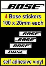 4 Bose Stickers motorsport Sponsor Tool Box workshop car van decal adhesive viny