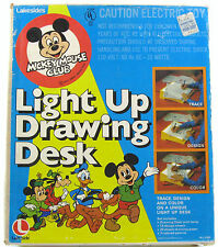 Mickey Mouse Club Light Up Drawing Desk Vintage Lakesides