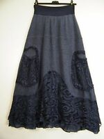 LAGENLOOK 35%MOHAIR 65%VISCOSE KNITTED LACY LAYERED SKIRT POCKETS ONE SIZE 12-16