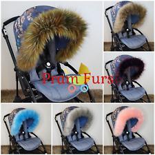 Pram Fur Hood Trim Stroller Buggy 150 Colours Bugaboo Silver Cross Icandy