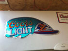 Surfing Surfboard Cool Coors Light / Coors Original Tin Metal Beer Sign - Used