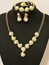 Nickel Unbranded Pearl Costume Necklaces & Pendants