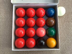 Genuine Aramith 10 Red 2 Inch Snooker Balls Used Once In Immaculate Condition