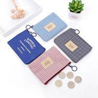 1PC Wallet Card Key Cute Purse Canvas Pouch Bag Small Zipper Coin Holder Unisex