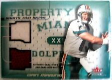 Dan Marino 2001 Fleer Focus Shirts and Skins Jersey Patch/Ball#6/50-Dolphins QB
