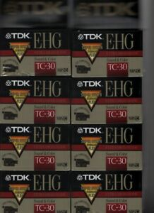TDK E-HG TC-30 Extra High Grade VHS-C Camcorder Tape BRAND NEW SEALED LOT OF 8