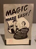 MAGIC MADE EASY Amusing And Mystifying Magic Tricks CB Yohe Pittsburgh PA 1950