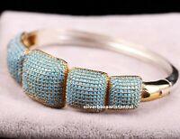 Turkish Handmade 925 Sterling Silver Turquoise stone Ladies Womans Fine Bracelet