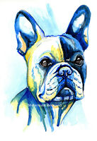 French Bulldog art print painting Bull Dog - Frenchie Poster Gift Birthday Gifts
