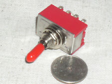 1 RED RUBBER HANDEL MINI TOGGLE 4PDT 4P2T ON-ON MULTI SWITCH 125V 6A 6 AMPS USA