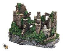 Castillo de gran tamaño pared ruinas Rústico Ornamento de acuario peces tanque decoración nuevo