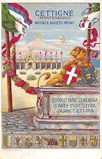 C3448) MONTENEGRO, CETTIGNE 1910, ESPOSIZIONE ITALIANA D'ARTE INDUSTRIA. VG 1910