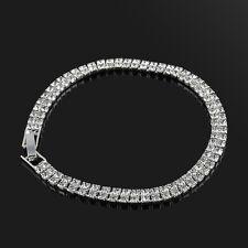 Fashion Crystal Rhinestone Women Girl Silver Plated Bangle Cuff Bracelet Jewelry