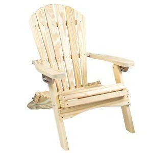 Reclining Wood Folding Adirondack Chair for Patio, Yard, Deck, Garden Furniture