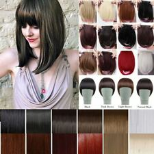 UK Real Thick Bang Clip in on Fringe Hair Extensions as Human Hair Synthetic
