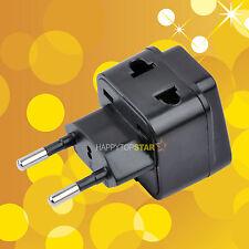 New Brazil EURO Plug to 2 Splitter Universal UK/US/EU/AU 2 3 Pins Socket Adapter