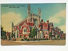 Sterling Law School, Yale University, New Haven, CT Postcard 1943