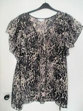 BN Ladies Leopard Print Chiffon Top by Yours Size 20