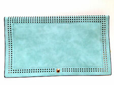 Clutch Handbag Shoulder Strap Fashion Purse New Laser Cut Design Turquoise Bag