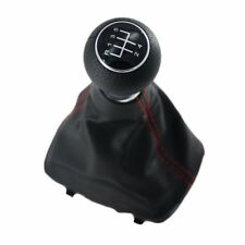 5 Speed 23mm MT Gear Shift Knob Gaiter Boot Cover Case For Audi A3 8L 2001-2003
