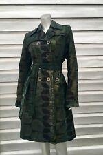 CUSTO BARCELONA Army Green Camouflage Trench Jacket Coat