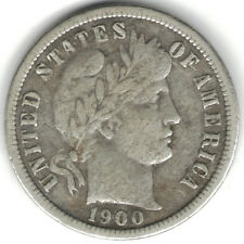 TMM* 1900-O Barber Dime Uncertified Coin  VF
