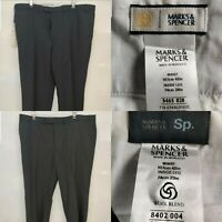 Bundle of Men New Smart Trousers M&S Navy Grey Wool Blend Big Short Size W42 L29