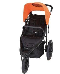 Baby Trend Stroller Stealth Jogger Foldable Poppy Orange JG30205 -JPMA Certified