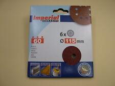 Sanding discs hook&loop random orbit sander 115mm pack 6, 60 grit,European made