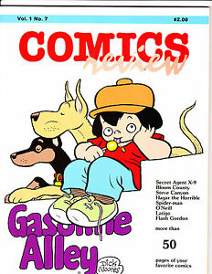 "Comics Review Vol 1 No 7-1984-Strip Reprints- ""Gasoline Alley Cover!  """