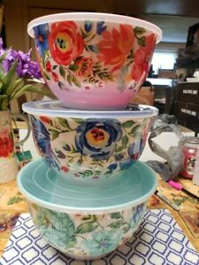 Pioneer Woman Delaney 6-Piece Melamine Bowl Set NEW