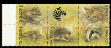 Russia 1989 MNH 5v + Label, Rodents, Rabbit (I218)