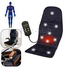 Car Chair Body Massage Heat Heated Mat Seat Heater Cushion Back Pain Support Pad