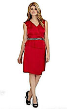 Women's Antonio Melani Solid Red Sequin Bead Accent Dress Size 12