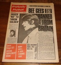 MELODY MAKER 14 OCT 1967 BEATLES BEE GEES JAGGER PETE TOWNSHEND KINKS BEE GEES