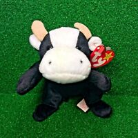 FREE Shipping New Ty Beanie Baby Daisy The Cow 1994 Retired PVC Plush Toy MWMT