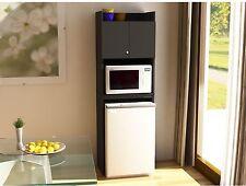 Mini Fridge Storage Cabinet Microwave Dorm Cart Space Saver Kitchen Refrigerator