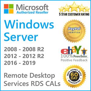 RDS 50 user cals Terminal Services TS CAL Remote Desktop Services of Server 2019