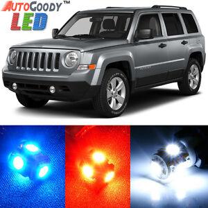 8 x Premium Xenon White LED Lights Interior Package Upgrade Jeep Patriot Compass