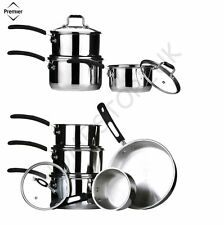 Stainless Steel Saucepan Pan Sets with Insulated Handle
