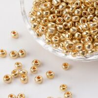 50g Electroplate Golden Glass Seed Beads for Necklaces Bracelets Gold bead