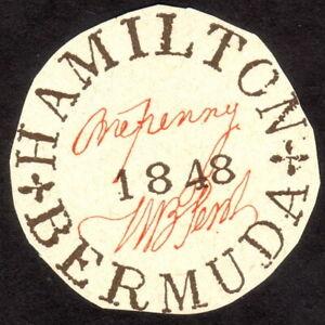 1848, Bermuda 1p, MNG, Sc X1, REPRINT / FAKE