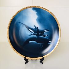 Orca Trio Plate Wyland Great Mammals of the Sea Collection Hamilton Collection