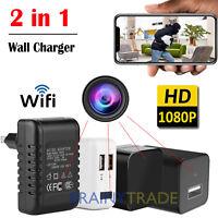 Full HD 1080P Wall Charger Spy Hidden Camera Mini WiFi Motion USB Power Adapter