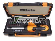 CASSETTA BETA 860/C38P 37 PEZZI CRICCHETTO REVERSIBILE BUSSOLE INSERTI 1/4