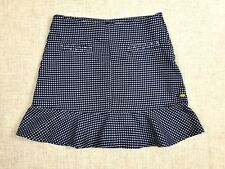 TOMMY HILFIGER Juniors Blue & White Diamond Pattern  Mini Skirt sz 12