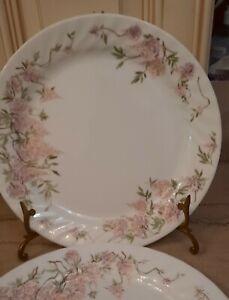 Set Of 4 Corelle Wisteria Dinner Plates