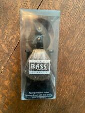 BASS #SB6B 100% PURE BADGER SHAVING BRUSH WITH STAND NIB MADE IN GERMANY