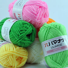New 42 colors Knitting Wool Crochet Soft Bamboo Cotton yarn lot of Natural Skein