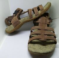 LL Bean Sandals Women Leather Brown 6 M